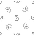jewish jug pattern seamless vector image