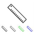 length ruler flat icon vector image vector image