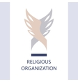 logo religious organization of society vector image vector image