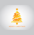 merry christmas greeting card gold luxury design vector image vector image