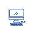 modern computer line icon concept modern computer vector image vector image