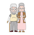 old people couple together forever vector image