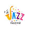 original flat badge for jazz festival vector image vector image