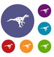 ornithopod dinosaur icons set vector image vector image