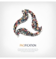 pacification people sign 3d vector image