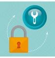 padlock key hand icon vector image