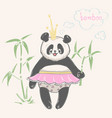 panda bear animal print vector image vector image