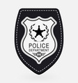 police badge simple monochrome sign vector image vector image