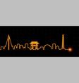 pyongyang light streak skyline vector image vector image