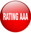 rating aaa red round gel isolated push button vector image vector image