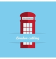 Red britain telephone box vector image vector image