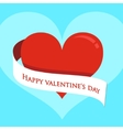 Red heart on Valentines Day vector image vector image
