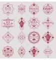Retro Design Luxury Insignias Logotypes Template vector image vector image