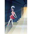 Roaring 20s poster with flappers near club night vector image vector image