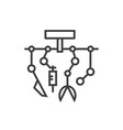 robotic surgery line icon vector image vector image
