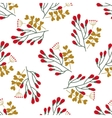 Seamless Christmas and New Year pattern with cute vector image vector image