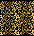 seamless leopard pattern animal skin grunge vector image vector image