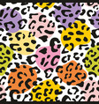 seamless pastel leopard pattern design vector image