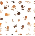 Seamless pattern of hand vector image