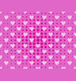 seamless pattern with hearts and dots in a pop vector image vector image