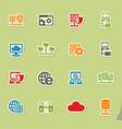server icon set vector image vector image