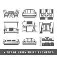 set elements furniture vector image vector image