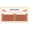 Stone bricks fence isolated on white background vector image vector image