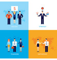 successful business teamwork partnership success vector image