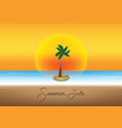 summer sale promotion season with coconut tree vector image