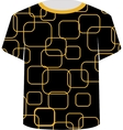 T Shirt Template- yellow blocks vector image