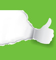 thumb up for green vector image vector image