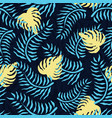 tropical seamless pattern with palm leaves summer vector image