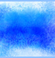 watercolor texture in blue color vector image vector image