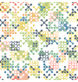 seamless aged pattern connections vector image