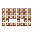 3d numbers and alphabet buttons vector image