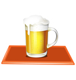 A mug full of cold beer vector image vector image