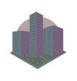 abstract city block icon in perspective vector image