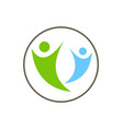 active people joy together logo vector image vector image
