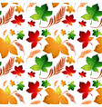 autumn leaf seamless background vector image vector image
