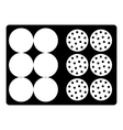Bag for golf balls icon simple style vector image vector image