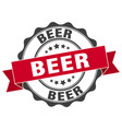 beer stamp sign seal vector image