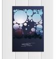 brochure a5 or a4 format abstract circles vector image vector image