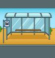bus stop cartoon pop art vector image vector image