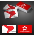 Business Card Background Design Template with vector image