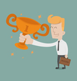 Businessman the winner vector image