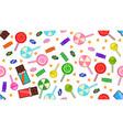 candies and chocolates halloween treats vector image