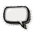 cartoon image of chat icon speech bubble symbol vector image vector image