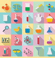 chemistry science icon set flat style vector image