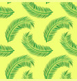 coconut palm leaves pattern vector image vector image