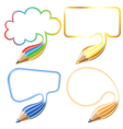 Collect Speech Bubble vector image vector image